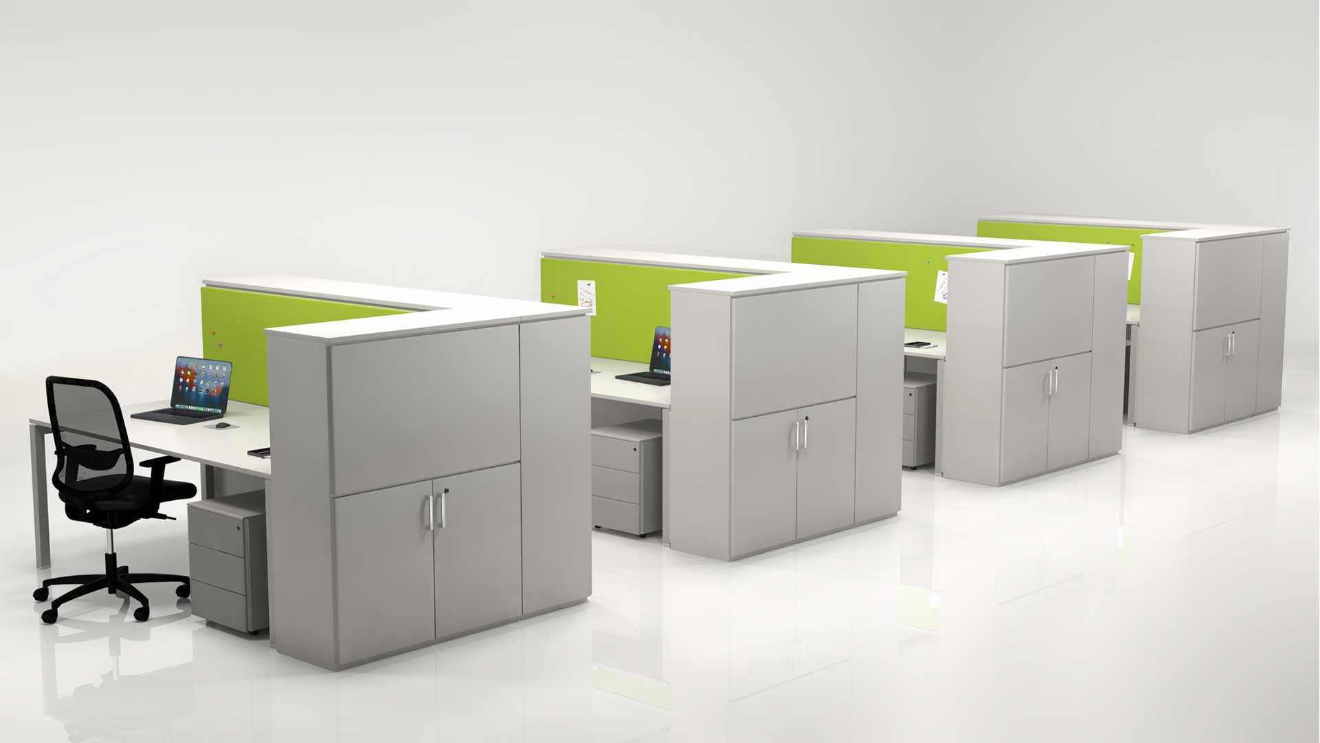 Piante Ufficio Open Space : Privacy visiva negli uffici open space arredo ufficio isolamento