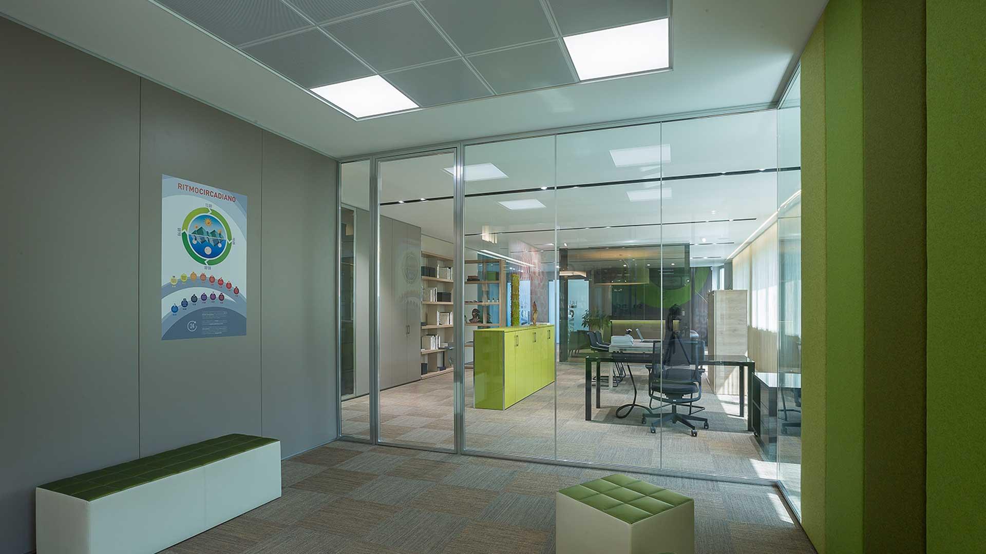 Illuminazione-integrata-nell'arredo-ufficio-LevelHUB