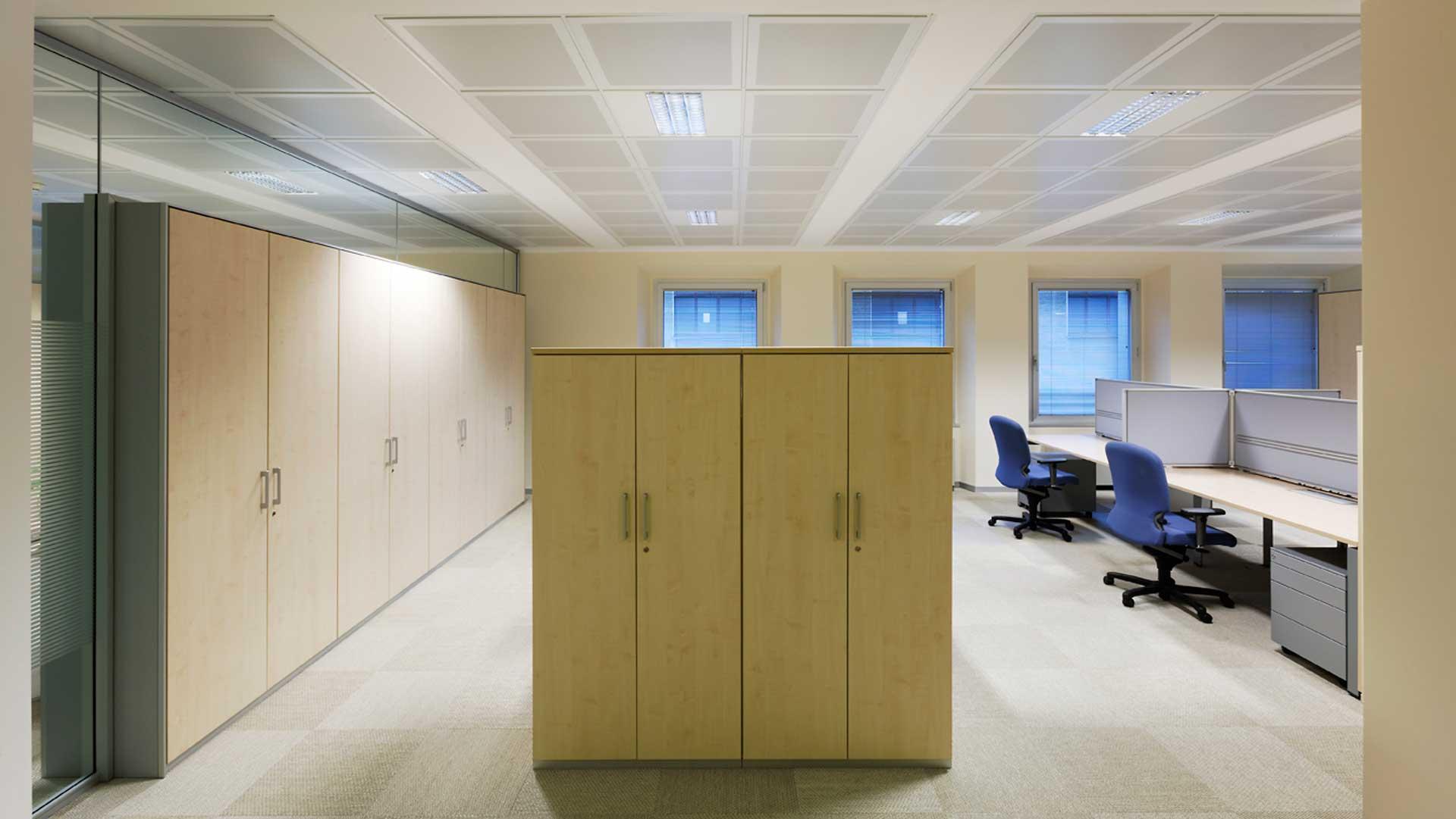 Pareti-attrezzate-per-ufficio-General-Electric-Level-Office-Landscape