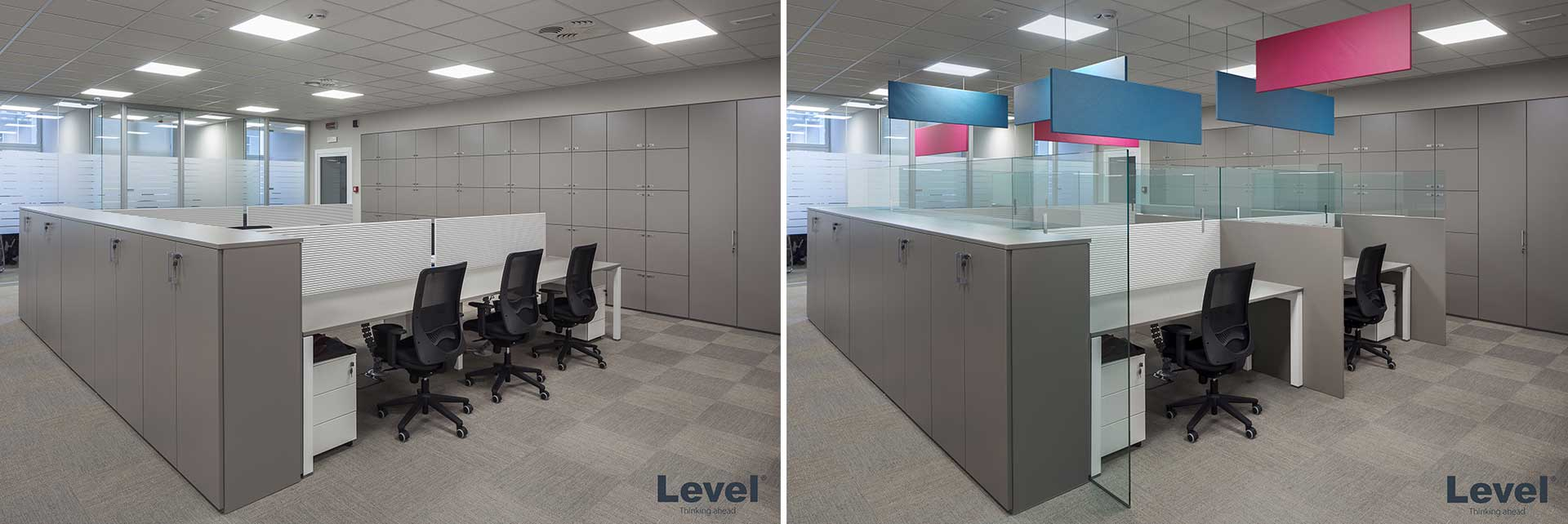 Progetto-integrato-screen-di-separazione-Level-Office-Landscape
