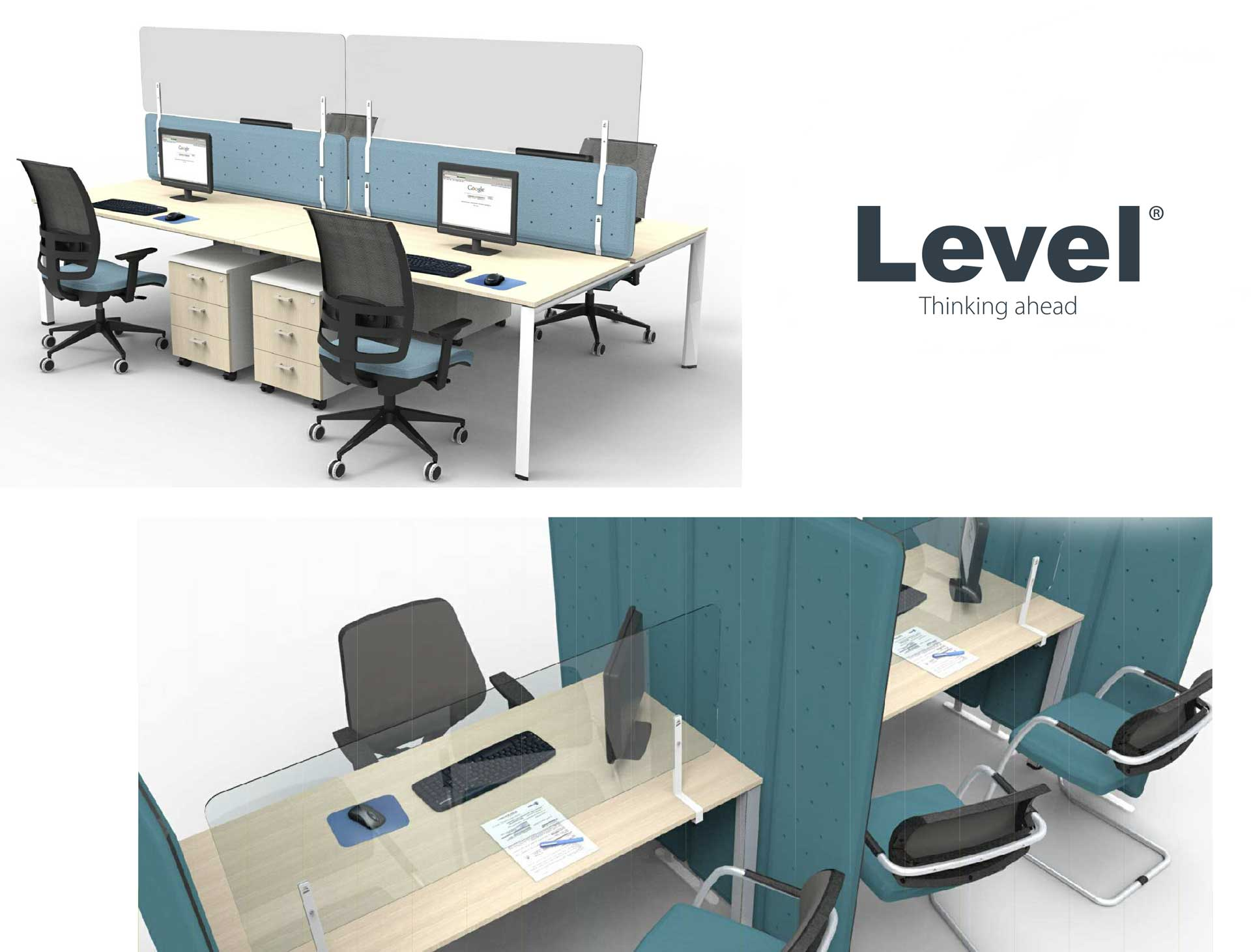 Riflesso-screen-di-separazione-ufficio-Level-Office-Landscape