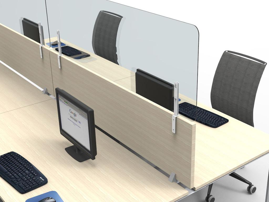 Screen di separazione ufficio contro covid 19 Level Office Landscape