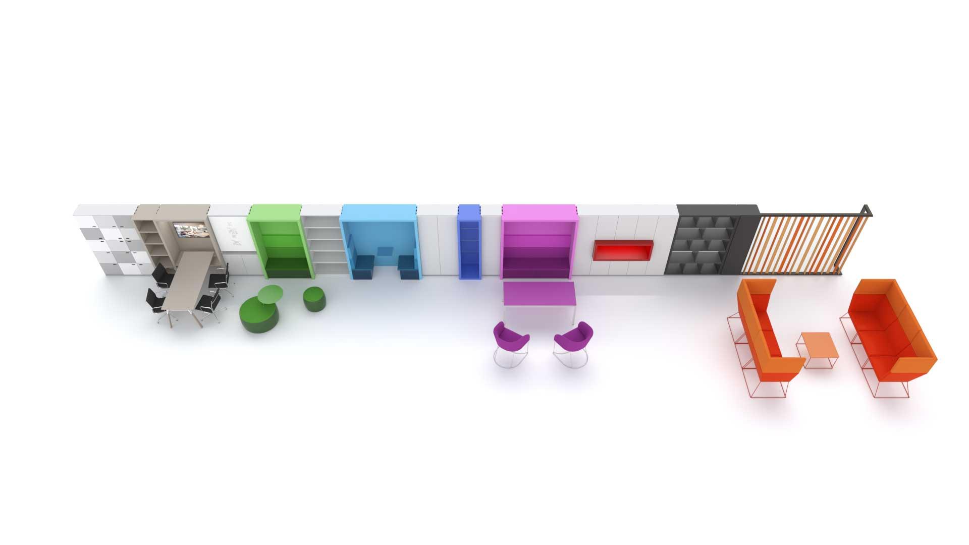 Evoluzione-delle-pareti-attrezzate-ufficio-Ever-Evolving-System-Level-Office-Landscape