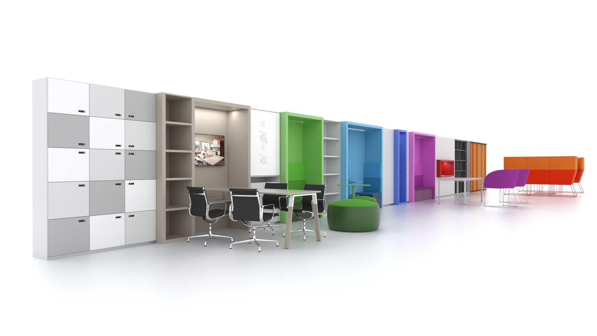 pareti-attrezzate-ufficio-Ever-Evolving-System-Level-Office-Landscape