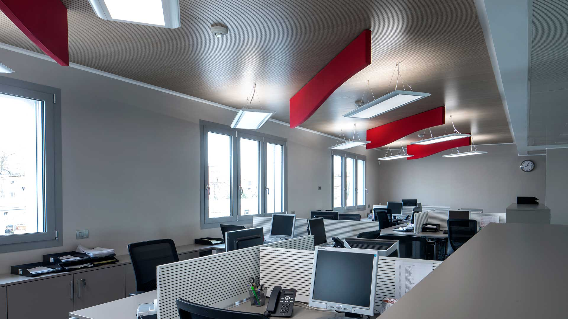 Baffles-a-soffitto-in-feltro-Level-Office-Landscape
